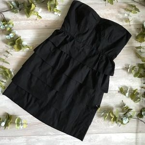 J. Screw Black Strapless Dress